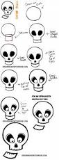 how to draw cartoon skulls for halloween drawing on holidays