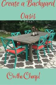 Inexpensive Patio Tables Outdated Patio Set Rustic Makeover She Bought A Black And White