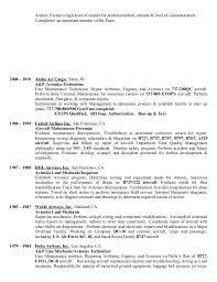 1 resume aviation