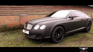 bentley blacked out bentley continental gt speed u0027matte black u0027 marlow cars youtube