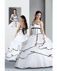 robe de mari e noir et blanc robe de mariée blanche et noir le de la mode