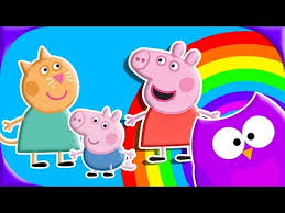 learn count peppa pig learn colors kitty