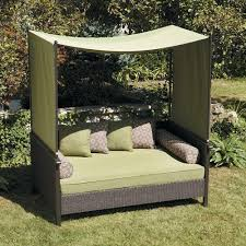 Outdoor Daybed With Canopy Outdoor Day Bed Green Relax Enjoy This Wicker