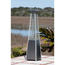 stainless steel outdoor patio heater fire sense stainless steel pyramid flame patio heater hayneedle