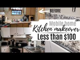 how to update mobile home kitchen cabinets kitchen makeover on a budget less than 100 mobile home
