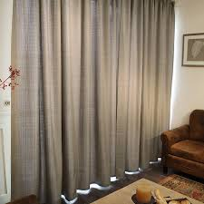Brown And Ivory Curtains Decorations Eco Friendly Linen And Cotton Solid Curtains In