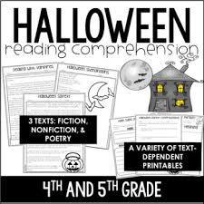 halloween reading comprehension passages and activities just print