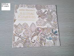 english edition animal kingdom coloring book 24 pages secret