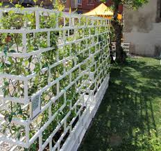 aluminum planter with trellis contemporary greenwall by luca