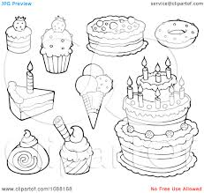 cartoon coloring book candy and desserts by clairev dessert pages