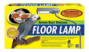 uv light for birds avian sun deluxe floor l zoo med laboratories inc