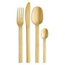 Cutlery Sets Turini Gold Finish 16 Piece Cutlery Set Buy Now At Habitat Uk