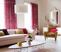 Navy And Pink Curtains Pink Color Curtain For Feminine Living Room With Harlequin Pattern
