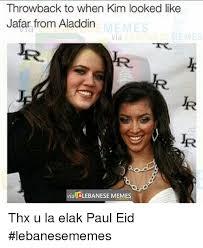 Eid Memes - throwback to when kim looked like jafar from aladdin memes via via