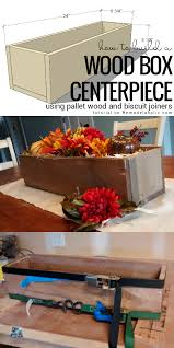 Wood Box Centerpiece by Remodelaholic Easy Diy Rustic Pallet Wood Box Centerpiece