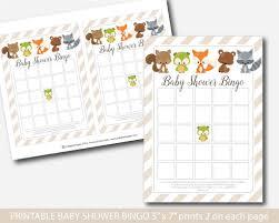 fox baby shower bingo cards woodland baby bingo woodland bingo