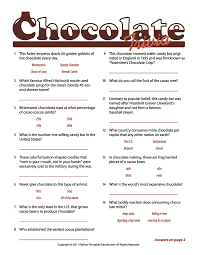 printable quizzes uk chocolate facts trivia game make an easier one for the 8 year old