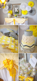 yellow and gray baby shower living room decorating ideas yellow baby shower cake ideas