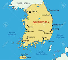 Map Of South Korea Republic Of Korea Vector Map Royalty Free Cliparts Vectors And