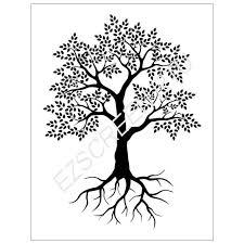 diy silk screen printing stencil ready to use tree with roots