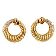 gold diamond earrings cleef arpels earrings 192 for sale at 1stdibs