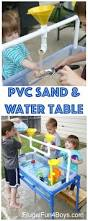use pvc pipe to make a sand and water table for kids my 2 4 and