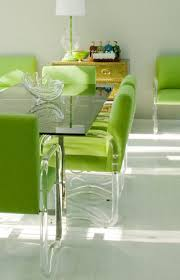 Lime Green Dining Room Lucite Legs And Neon Green Dining Chairs Furniture Decor