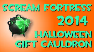 halloween gift uncrating a halloween gift cauldron in team fortress 2 scream