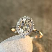 white topaz engagement ring white topaz and diamond halo engagement ring in 14k white gold