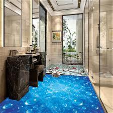 tapeten fã r badezimmer benutzerdefinierte wasserdichte tapete für badezimmer blaue welle