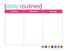 daily routine template cris lyfeline co