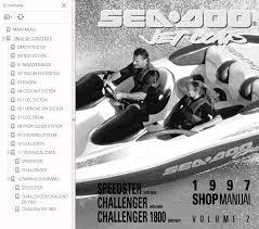 sea doo jet boat challenger 1800 full service repair manual 1997