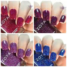the polished perspective zoya holographic nail polish swatch and