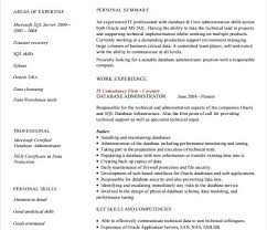 Resume Examples Free by 10 Database Administrator Resume Templates Free Samples
