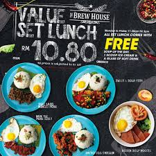 the brew house what u0027s for lunch enjoy our set lunch facebook