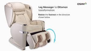 Osim Uastro Zero Gravity Massage Chair Osim Ulove Massage Chair Different Footrest Positions Youtube