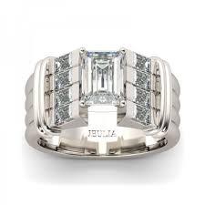 jeulia parallel art deco emerald cut white sapphire engagement
