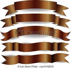 brown ribbon vector clip of brown ribbons set of brown ribbons