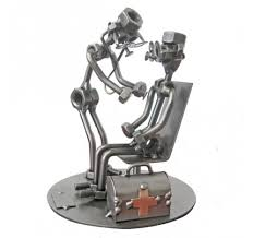 nuts and bolts sculpture nut and bolt art welded art sculpture
