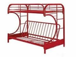 Metal Bunk Bed With Futon Red Twin Futon Metal Bunk Bed
