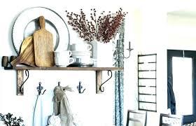decorating ideas for kitchen shelves kitchen shelf decor dining room floating shelves by kitchen window