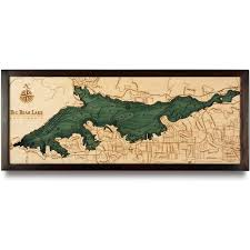 california map framed big lake wood map 3d nautical topographic chart framed