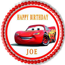 cars cake toppers disney pixar cars lightning mcqueen 1 edible cake topper cupcake