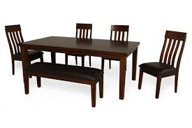 6 Piece Dining Room Sets by 6 Piece Dining Set With Dining Bench Mathis Brothers