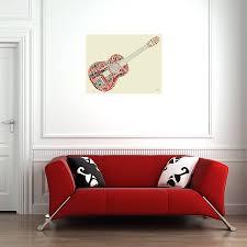 guitar legends fabric wall print mirrorin notonthehighstreet guitar legends fabric wall print