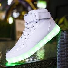 shoes that light up on the bottom nike 2018 unisex led shoes luminous running shoes men sneakers high top