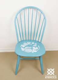 stencil ombre painted kitchen chairs stencil stories stencil stories