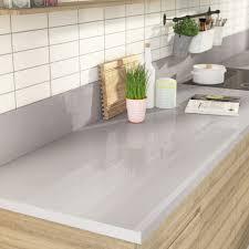 plan de travail cuisine stratifié leroy merlin plan de travail stratifié gris métal brillant l 300 x p 65 cm ep