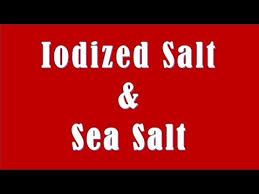 Difference Between Sea Salt And Table Salt Difference Between Iodized Salt And Sea Salt Youtube