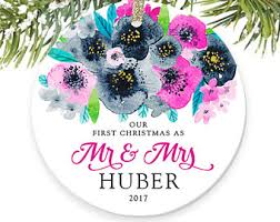 personalized ornament for newlyweds newlyweds